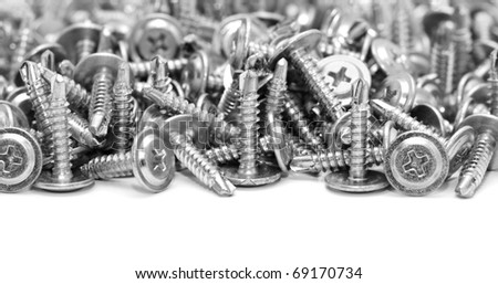 screws isolated on a white background