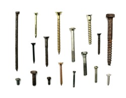 Screws - isolated on white
