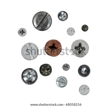 Screws isolated on white #68058256