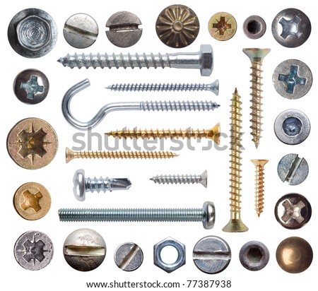 Screws isolated on white