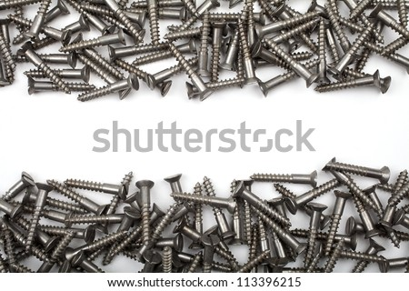 Screws on a white background.