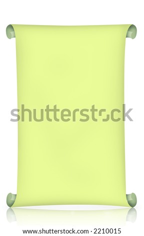 Scroll isolated with reflection
