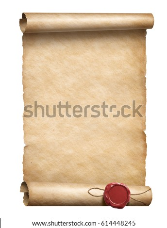 scroll with wax seal 3d...