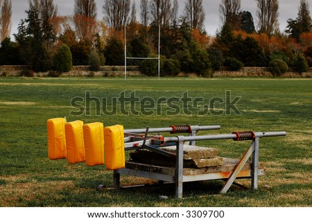 Scrum machine for rugby practice