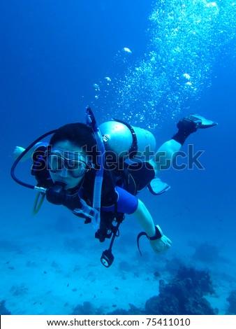 Scuba diver - stock photo