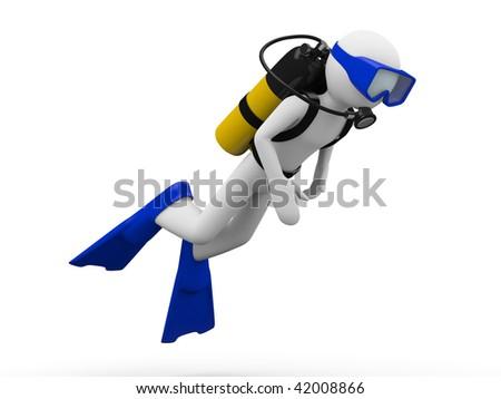 Scuba diver (men at work series)