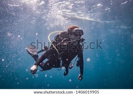 Scuba divers in Anilao Philippines #1406019905