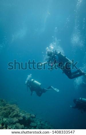 Scuba divers in Anilao Philippines #1408333547