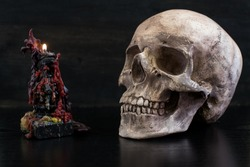 Scull altar background