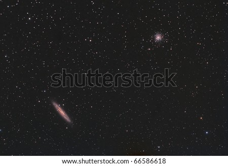 Sculptor Galaxy and the NGC 288 Cluster