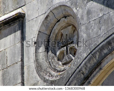 Sculptural ornamentation, in stone laced of the Monastery of Santa Maria of the Victory that is a monastery located in the town of Batalha, in the Central region of Portugal (late fourteenth century) #1368300968