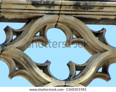 Sculptural ornamentation, in stone laced of the Monastery of Santa Maria of the Victory that is a monastery located in the town of Batalha, in the Central region of Portugal (late fourteenth century) #1368301985