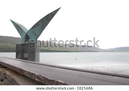 sculpture, akureiri, iceland - stock photo