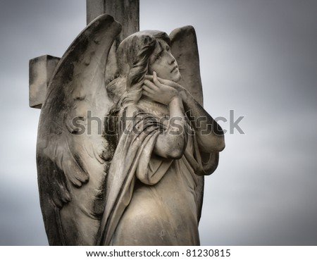 Sculpture at a Melbourne cemetery