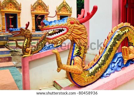 Sculpture at the Thai temple Wat Chayamangkalaram in Penang, Malaysia
