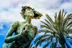 Sculpture called THE FLY by Lena Dettervik is located along the mediterranean sea an open air museum in downtown. French riviera Cagnes - sur - mer.