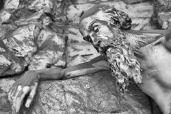 sculpture in Stalieno Cemetery  Genove