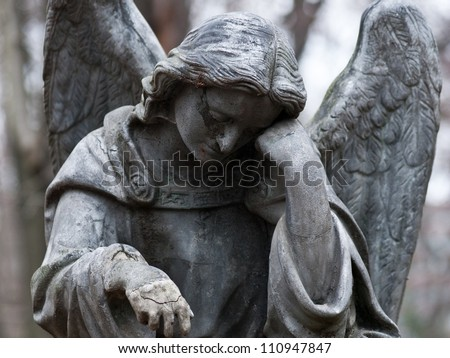 Sculpture of Angel at a Prague cemetery