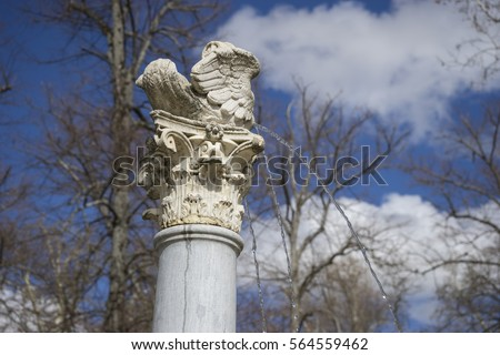sculpture of angel winged in...