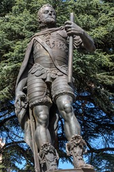 Sculpture of Felipe II in the Plaza de San Pablo in Valladolid, Castilla y Leon, Spain