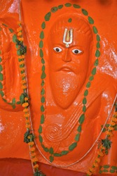 Sculpture of Kapila situated in Gangasar, West Bengal  . He is the founder of the Samkhya school of Hindu philosophy in  Vedic sage, estimated to have lived in the 6th-century BC.