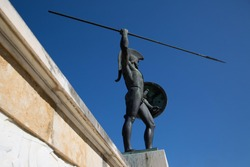 Sculpture of Leonidas, King of Sparta located at Thermopylae, Greece.