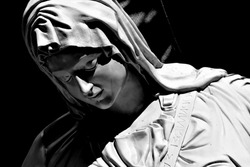 Sculpture of Mother Mary at Shrine of Our Lady of Matara Sri Lanka.