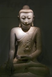 Sculpture of stone Budha