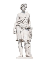sculpture of the ancient Greek god Adonis isolate