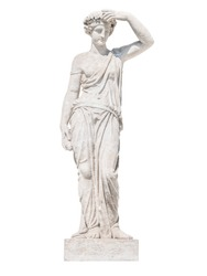 sculpture of the ancient Greek god Ceres isolate