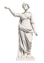 sculpture of the ancient Greek god Latona isolate