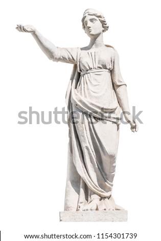 sculpture of the ancient Greek god Latona isolate #1154301739