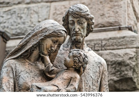 Sculpture of the holy family. #543996376