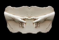 Sculpture of two hands