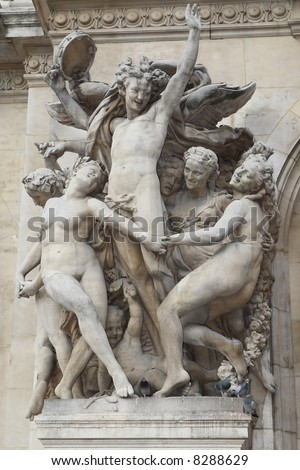 Sculpture on the Academie nationale de musique, Paris, France