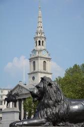 Sculptures at the Trafalgar Square