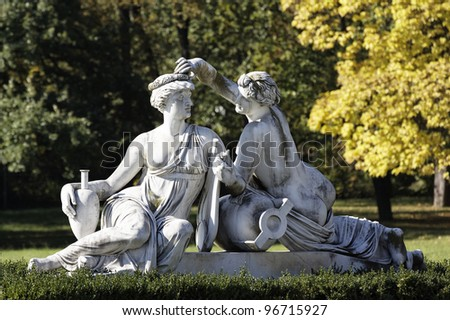 Sculptures in Castle Rosenstein in Stuttgart, Germany