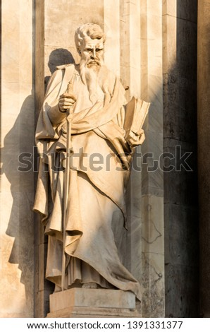 Sculptures of Metropolitan Cathedral of Saint Agatha in Catania, Sicily, Italy. #1391331377