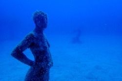 Sculptures of people. Museo Atlantic, Lanzarote, Islas Canarias