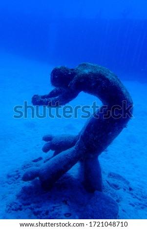 Sculptures of people. Museo Atlantic, Lanzarote, Islas Canarias  Foto stock ©