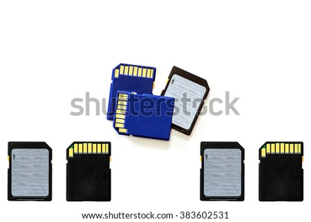 SD card as storage devices for use in digital cameras and multimedia devices.