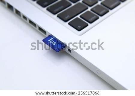 SD Card in personal computer isolated over white #256517866