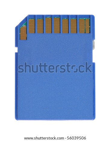 SD card isolated on white background