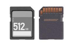 SD Memory card isolated on white background - 512 Gigabyte
