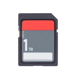 SD Memory card isolated on white background - 1 Terabyte