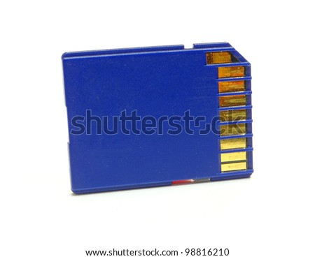 Sd, Sdhc, Sdxc. Memory card isolated on white background.