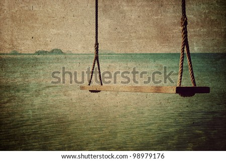 Sea Abstract background,Vintage style - stock photo
