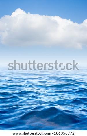 sea and cloud on sky