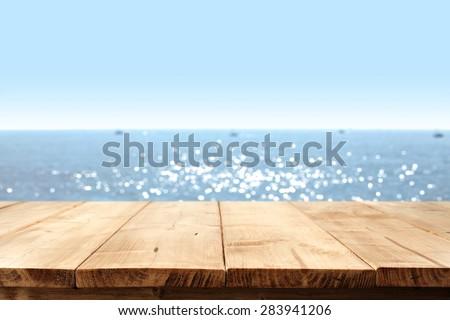 sea and desk