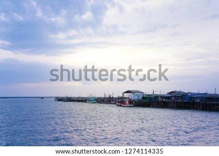 Sea and harbor #1274114335
